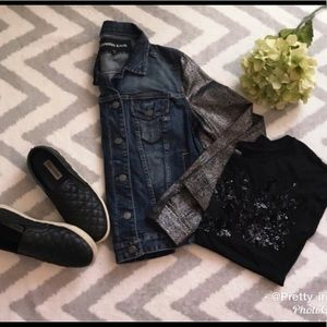 EXPRESS | Jean Jacket with Metallic sleeves
